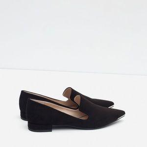 Zara Metal Pointed Toe Flat